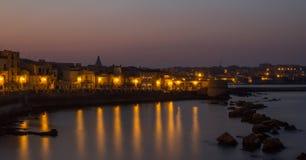 Siracusa,意大利港口  免版税图库摄影