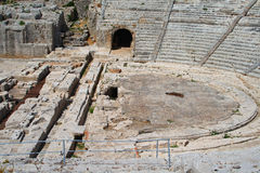 Siracusa-Ancient amphitheater. Southern Italy-Siracusa-Ruins of ancient amphitheater Stock Image