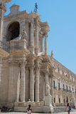 Siracusa Cathedral in Square Piazza del Duomo in Ortigia Siracusa, Italy. Stock Image
