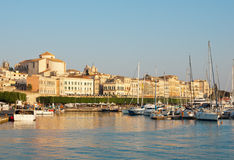 Siracusa city during sunset Royalty Free Stock Image