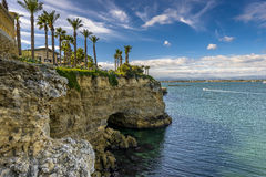 Siracusa Coast Royalty Free Stock Photo