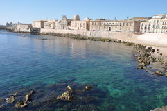Siracusa en Sicilia Fotos de archivo