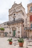 Siracusa Italien - Juli 25, 2011 - 'Piazza Duomo ', royaltyfria bilder