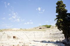 Siracusa's Greek theatre Royalty Free Stock Photography