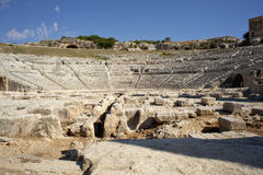 Siracusa's Greek theatre Royalty Free Stock Images
