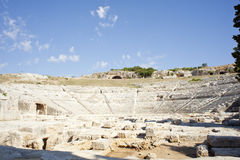 Siracusa's Greek theatre Stock Photo
