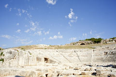 Siracusa's Greek theatre Stock Images