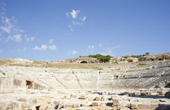 Siracusa's Greek theatre Stock Photography