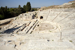 Siracusa's Greek theatre Royalty Free Stock Photo