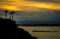 Siracusa, Sicile au coucher du soleil Image libre de droits