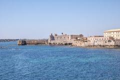 Siracusa in Sizilien - Schloss Stockbilder