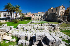 Siracusa, tempio di Apollo immagine stock libera da diritti