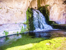 Siracusa Temple Fountain, Sicily, Italy - Paint effect Stock Photo