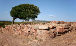 Sirai山, Carbonia (撒丁岛) 免版税库存照片