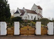 Sireköpinge Church in skane sweden. The white stone church at Sireköpinge in the Skane region of Sweden Royalty Free Stock Images