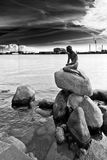 The Siren. A look at the impressive views of Denmark in black and white Stock Photos