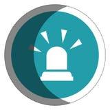 Siren alarm isolated icon Stock Photography