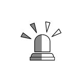Siren alarm isolated icon Stock Image