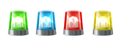 Siren  alert. Flashing lights Royalty Free Stock Image