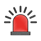 Siren alert isolated icon. Vector illustration design Royalty Free Stock Image