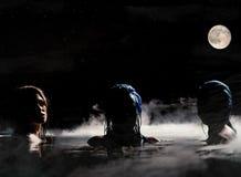 Siren av natten arkivfoto