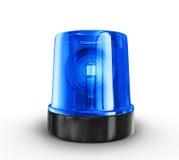 Siren. Blue siren  on a white background Royalty Free Stock Photos