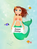 Siren with card Stock Images