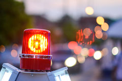 Siren light for traffic jam on the road. City Royalty Free Stock Images