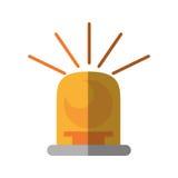 Siren light yellow isolated icon Royalty Free Stock Image