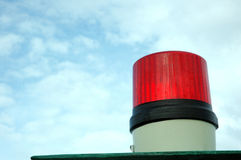 Siren lights. A red siren lights with blue sky background Stock Photography