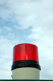 Siren lights. A red siren lights with blue sky background Royalty Free Stock Photography