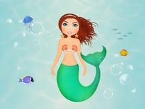 Siren in the ocean Stock Photography