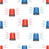 Siren police lights seamless pattern Royalty Free Stock Photo