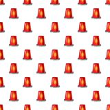 Siren red flashing emergency light pattern. Seamless repeat in cartoon style vector illustration Royalty Free Stock Photography