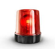 Siren. Red siren  on a white background Royalty Free Stock Photos