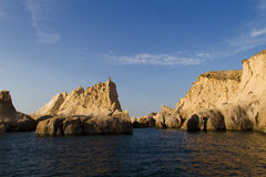 Siren Rocks in Foca, Turkey Royalty Free Stock Photos