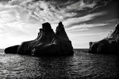 Siren Rocks in Foca, Turkey Stock Photography