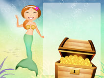 Siren in the sea Royalty Free Stock Photo