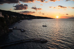 Sorrento bay sunset Royalty Free Stock Images