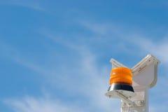 Sirena arancione della torcia elettrica Fotografia Stock