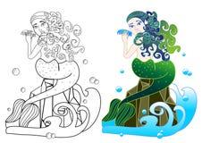 Sirena bella Fotografia Stock