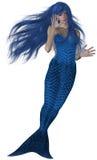 Sirena blu Fotografie Stock Libere da Diritti