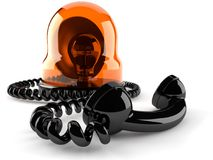 Sirena de policía con el microteléfono libre illustration