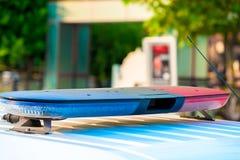 Sirena de un coche policía Imagen de archivo libre de regalías