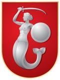 Sirena de Varsovia stock de ilustración