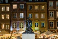 Sirena de Varsovia - símbolo del capital de Polonia Foto de archivo libre de regalías