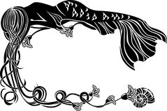 Sirena decorata di sonno della struttura Fotografia Stock