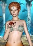 Sirena del cuento de hadas Imagen de archivo libre de regalías