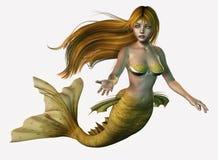 Sirena del oro stock de ilustración
