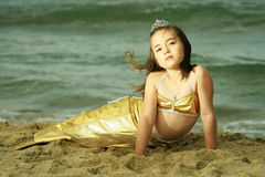 Sirena della ragazza Fotografia Stock